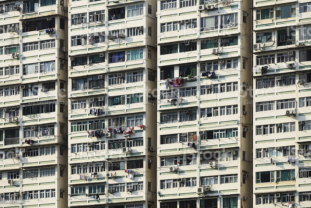 Apartment Building in Hong Kong royalty-free stock photo