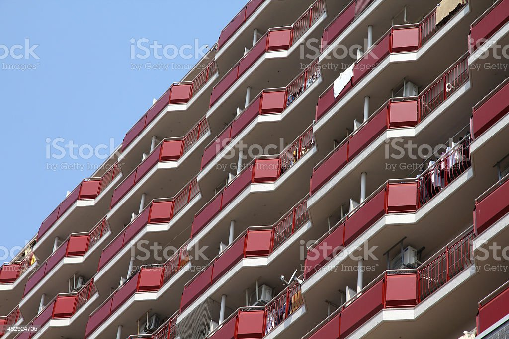 Apartment building in Japan royalty-free stock photo