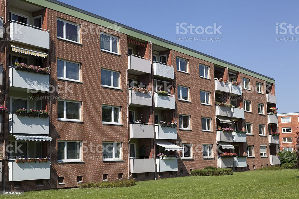 Apartment building in Kiel, Germany royalty-free stock photo