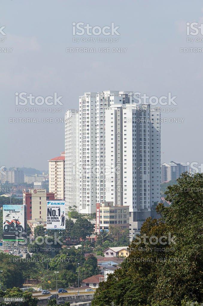 Apartment building in Kuala Lumpur, Malaysia stock photo