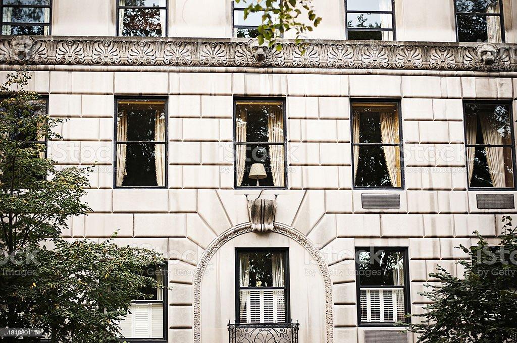 Apartment Building in Manhattan stock photo