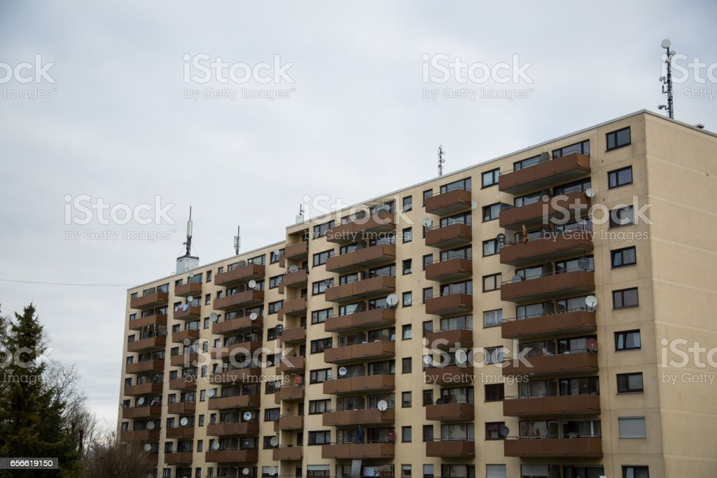 Apartment building in Munich, residential building, residential house, Germany stock photo