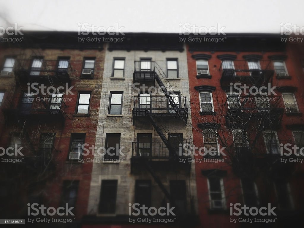 Apartment Building in New York City royalty-free stock photo
