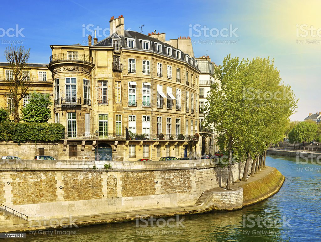 Apartment Building in Paris royalty-free stock photo