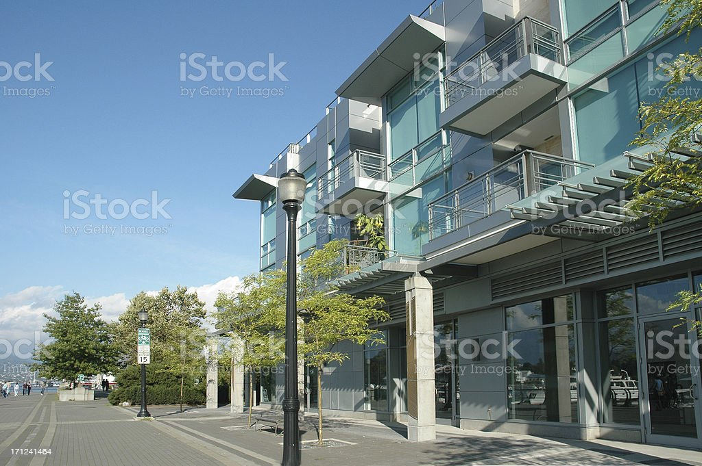 Apartment Building in Vancouver stock photo