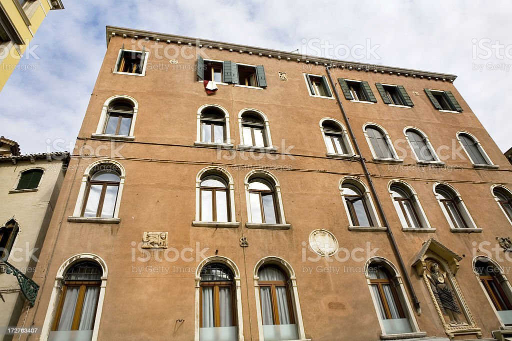 Apartment Building in Venice Italy royalty-free stock photo