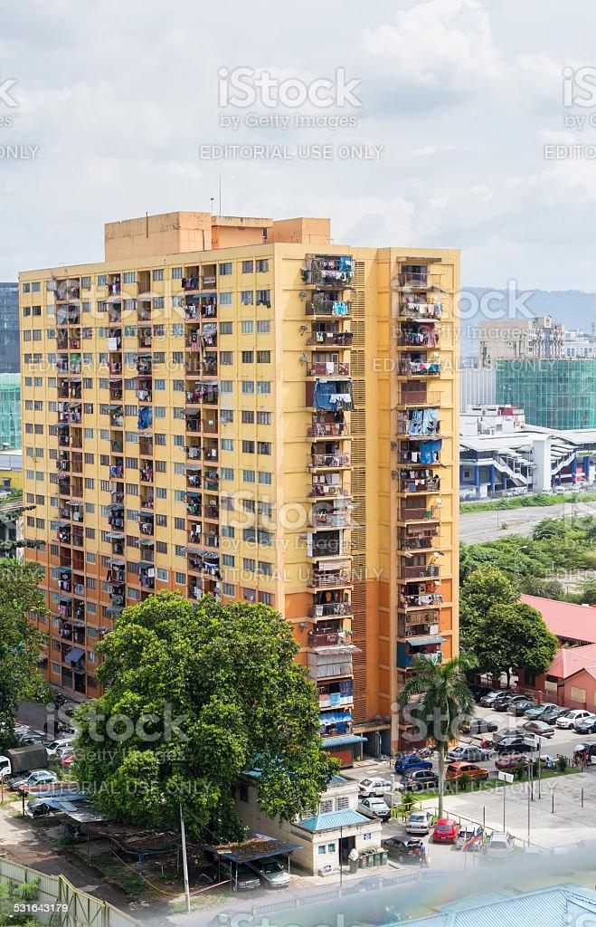 Apartment building, Kuala Lumpur, Malaysia stock photo