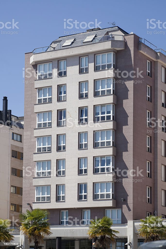 Apartment building. royalty-free stock photo