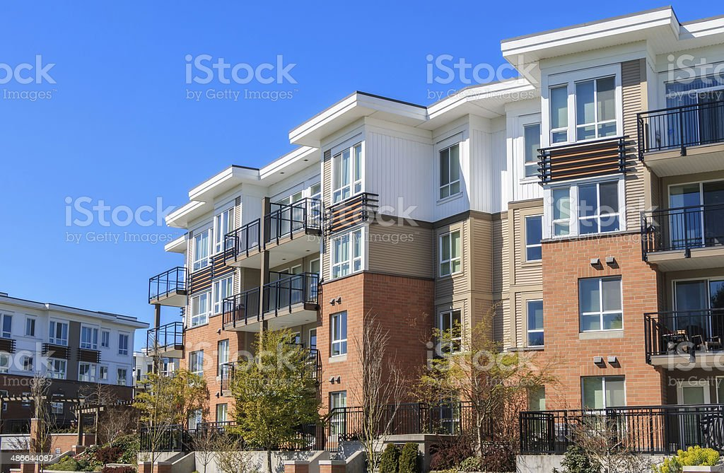 Apartment Building stock photo