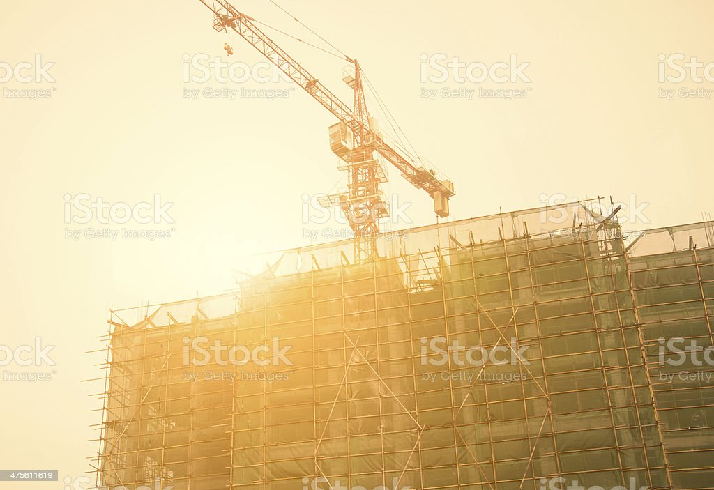 Apartment building site stock photo