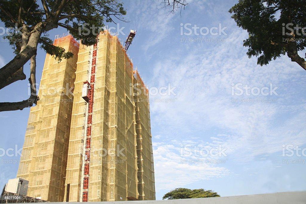 apartment building under construction stock photo