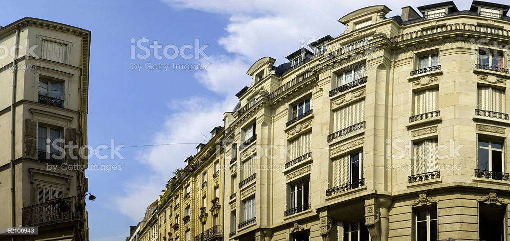Apartment buildings and windows royalty-free stock photo