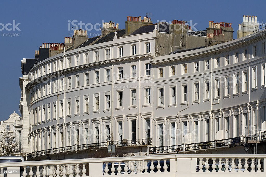 Apartment buildings at Hove. East Sussex. England stock photo