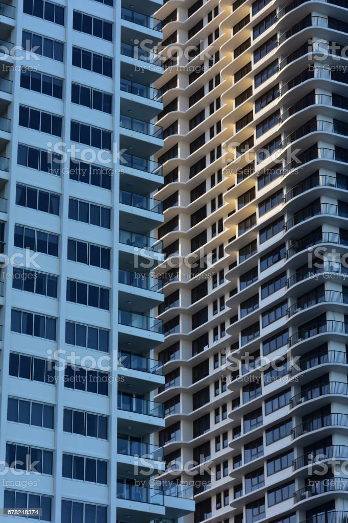 Apartment buildings exterior stock photo