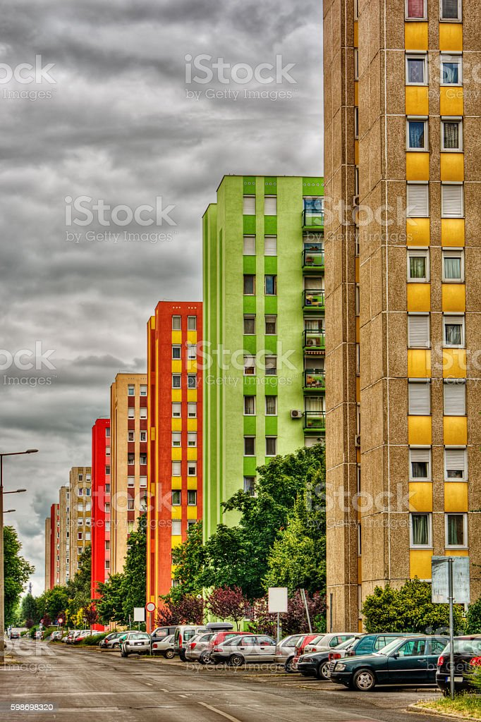Apartment buildings HDR stock photo