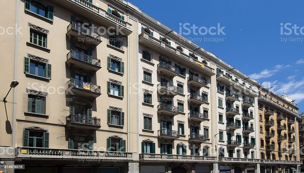 Apartment Buildings in Barcelona, Spain stock photo
