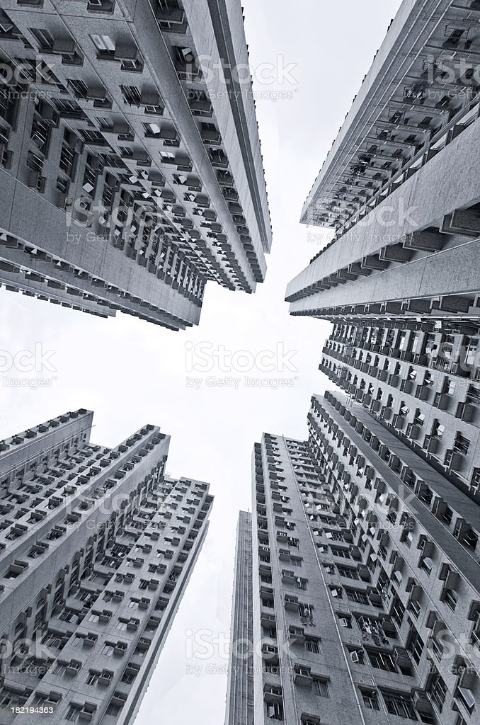 apartment buildings in Hong Kong royalty-free stock photo