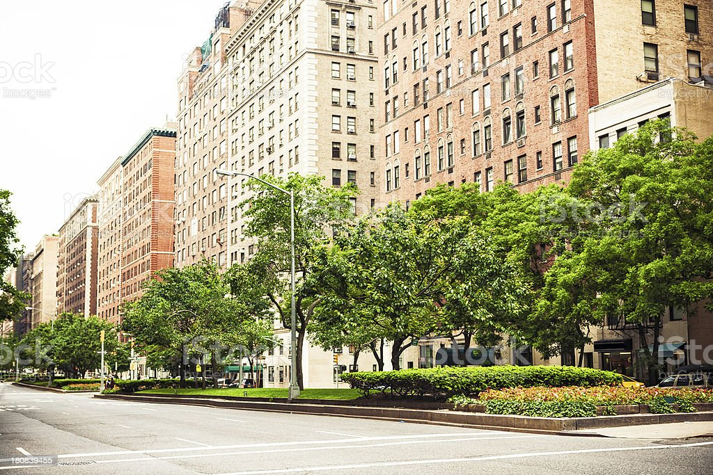 Apartment buildings in Park Avenue, New York City stock photo