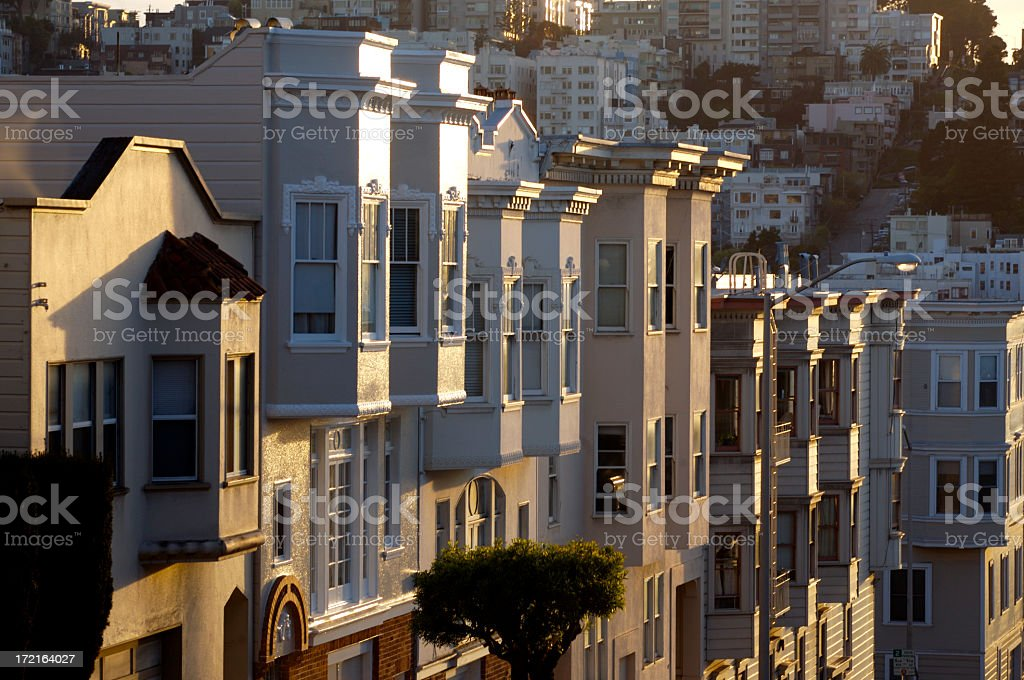 Apartment Buildings In S.F. royalty-free stock photo