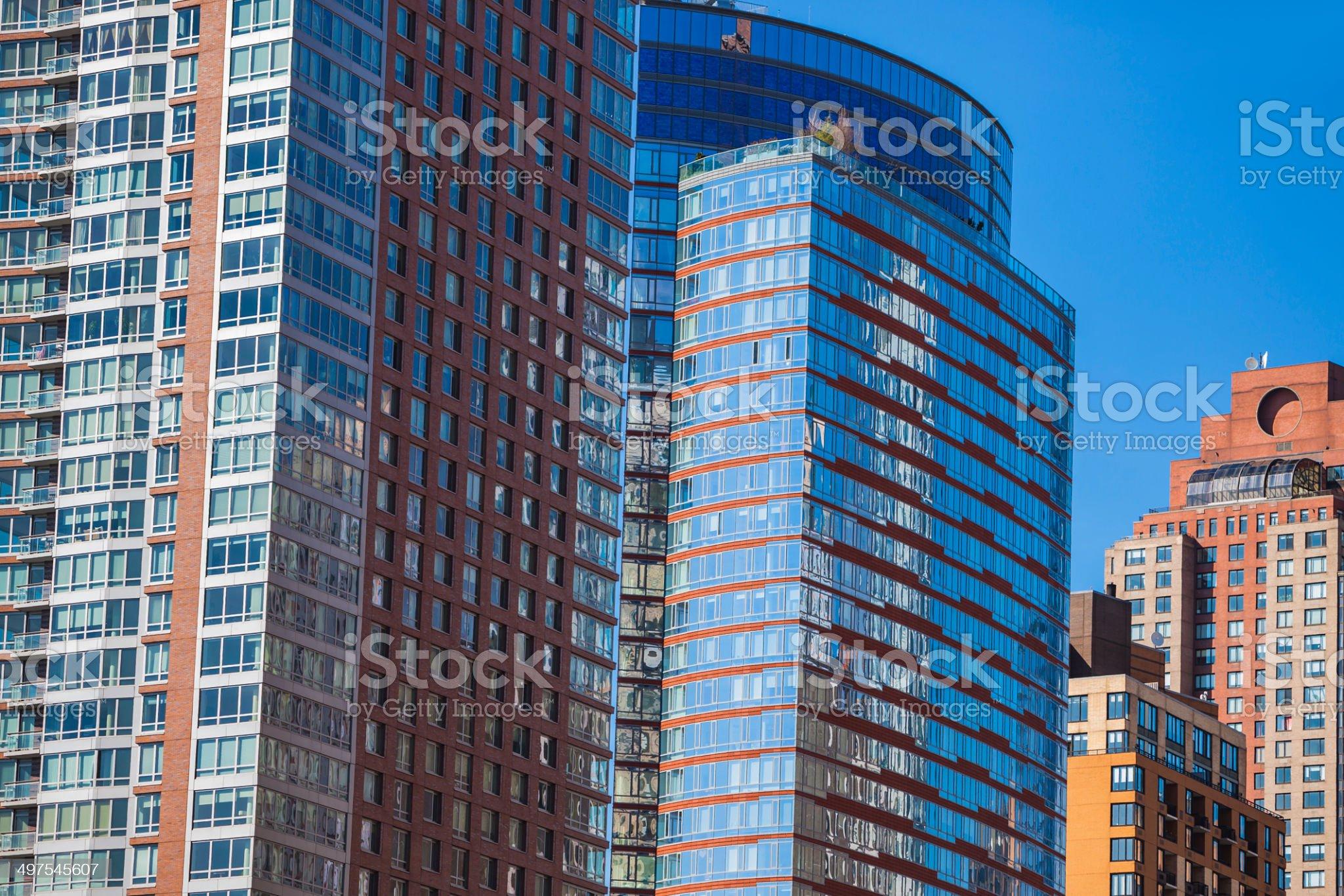 Apartment Buildings, Manhattan, New York royalty-free stock photo
