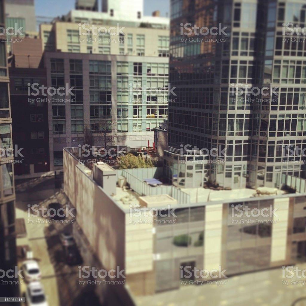 Apartment Buildings New York City royalty-free stock photo