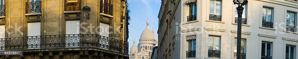 Apartment buildings, Paris royalty-free stock photo