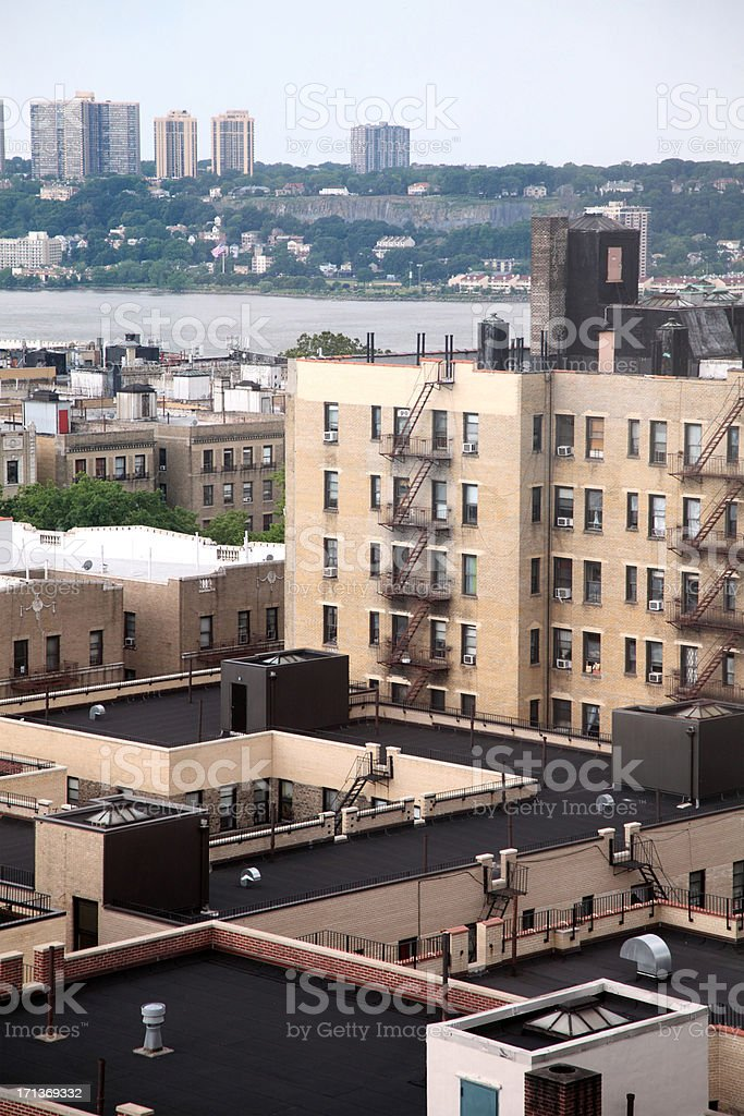 NYC Apartment Buildings stock photo