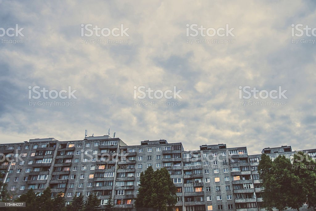 Apartment buildings. stock photo
