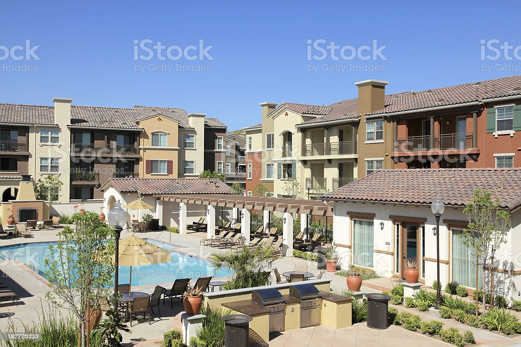 Apartment Community stock photo