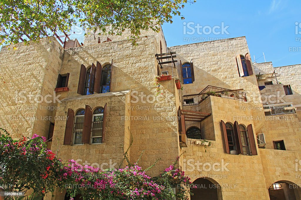 Apartment Complex in Old Jerusalem stock photo