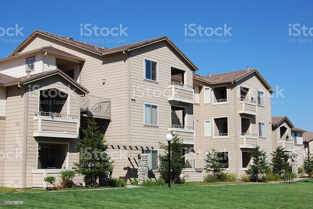 Apartment Complex Living royalty-free stock photo