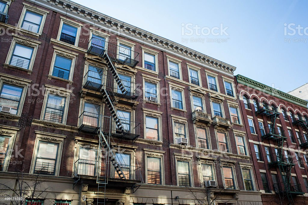Apartment complex. Multi dwelling apartment bulding. stock photo