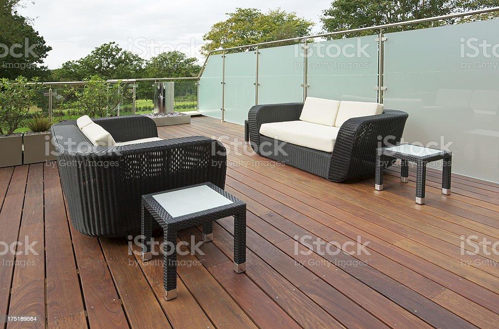 apartment decking royalty-free stock photo