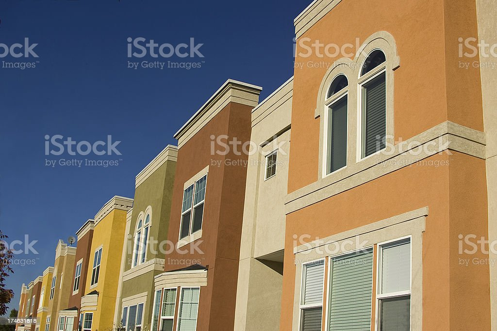 Apartment Flats 1 with copyspace royalty-free stock photo