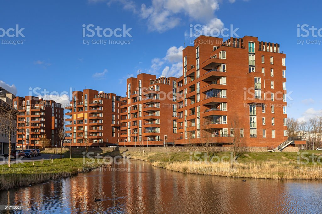 apartment flats stock photo