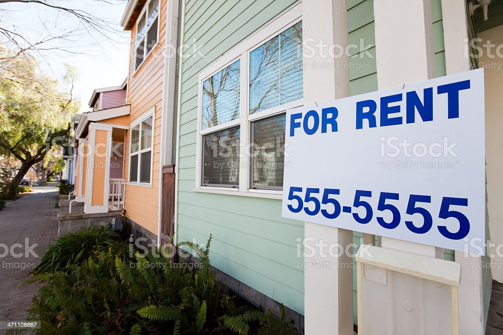 Apartment for Rent stock photo