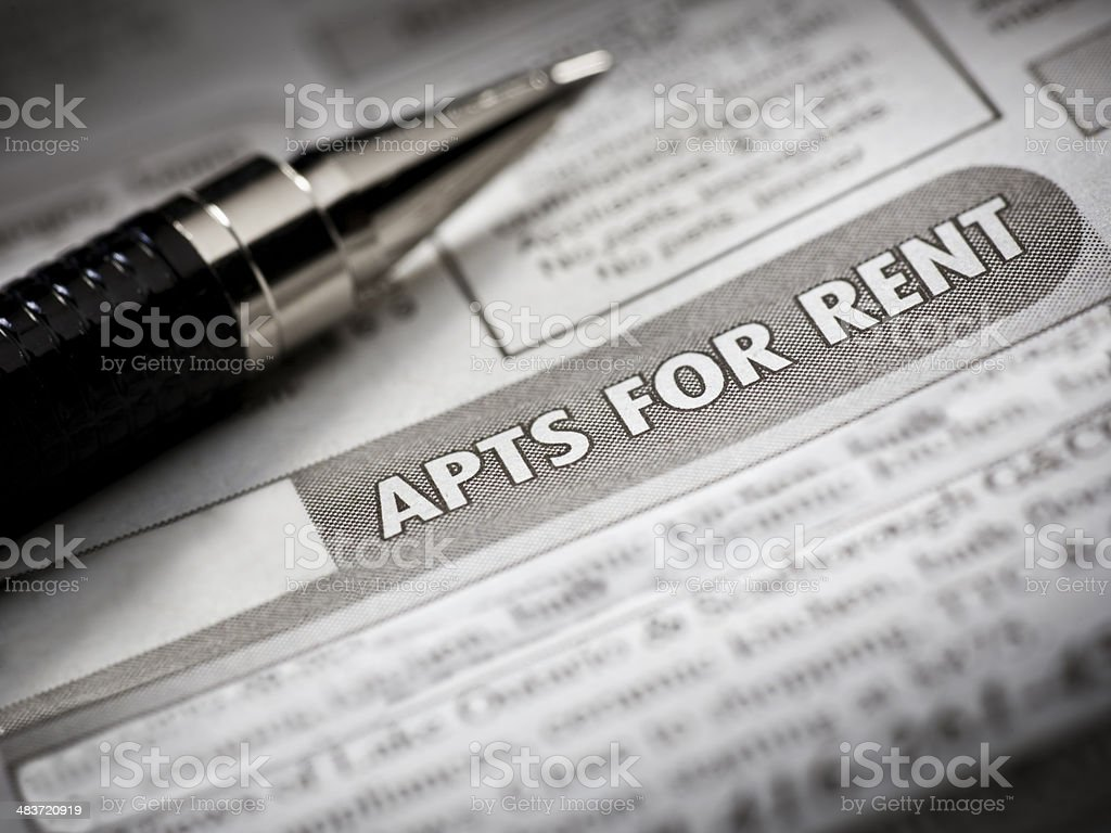 Apartment for rent royalty-free stock photo