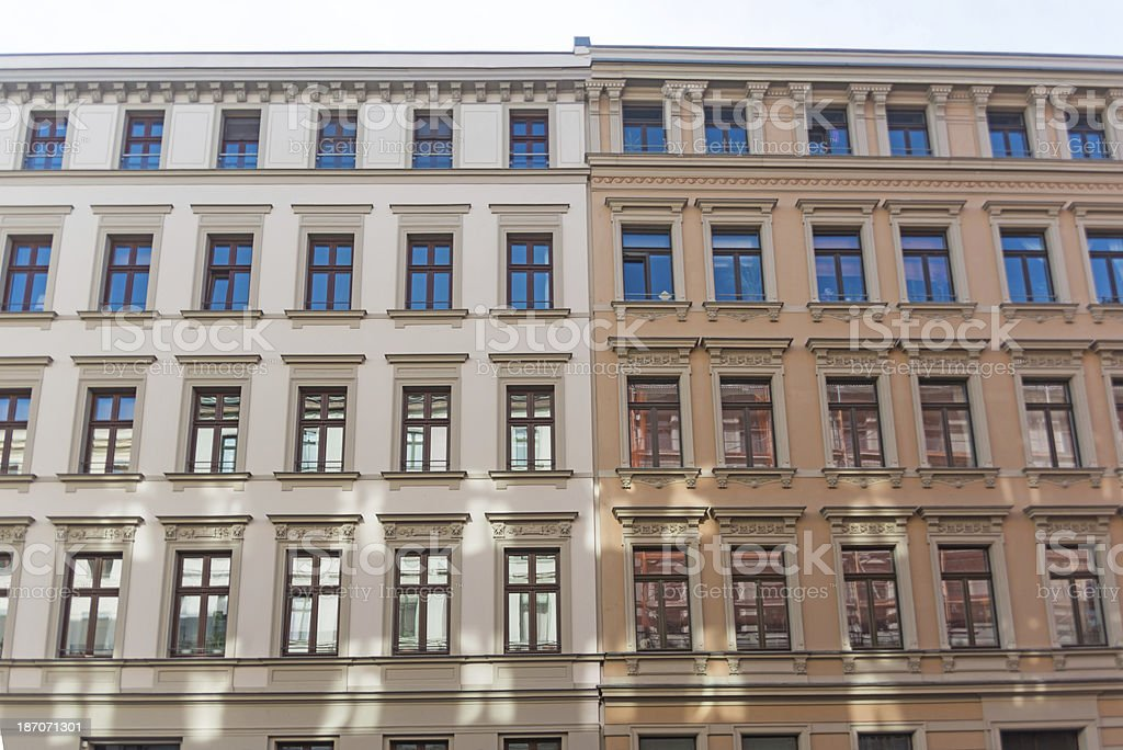 apartment home - exklucive and expensive building in leipzig germany stock photo