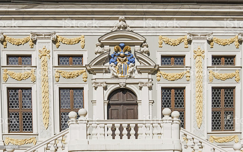 apartment home - in leipzig germany ancient door royalty-free stock photo