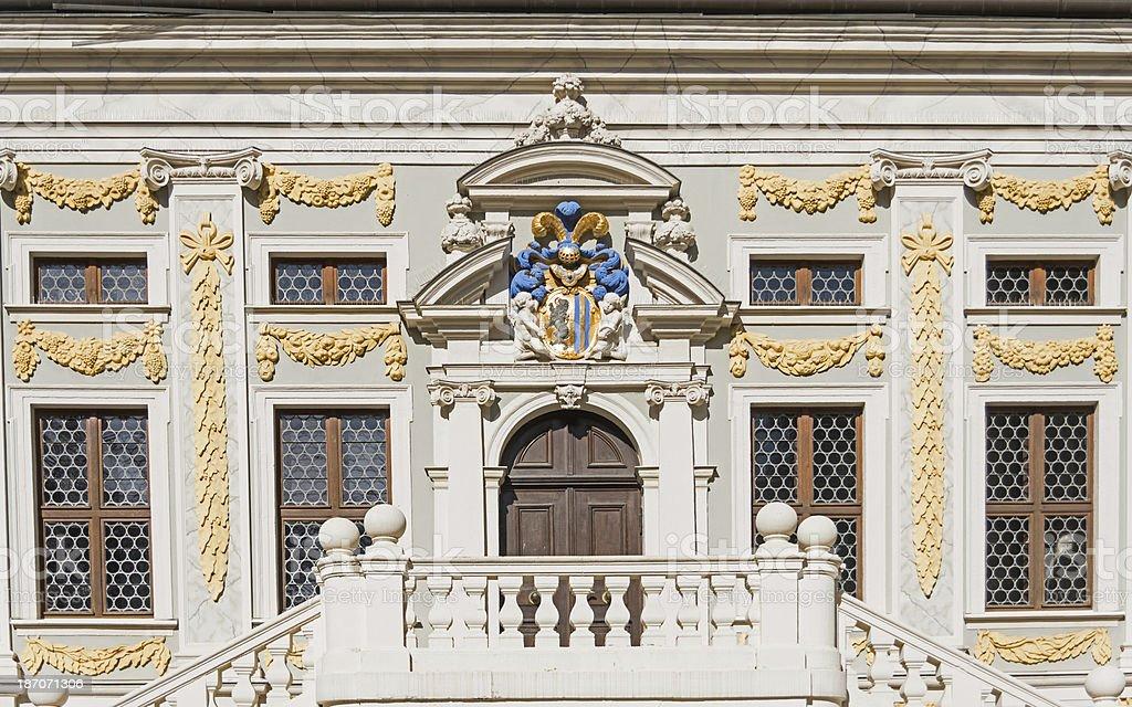 apartment home - in leipzig germany ancient door stock photo