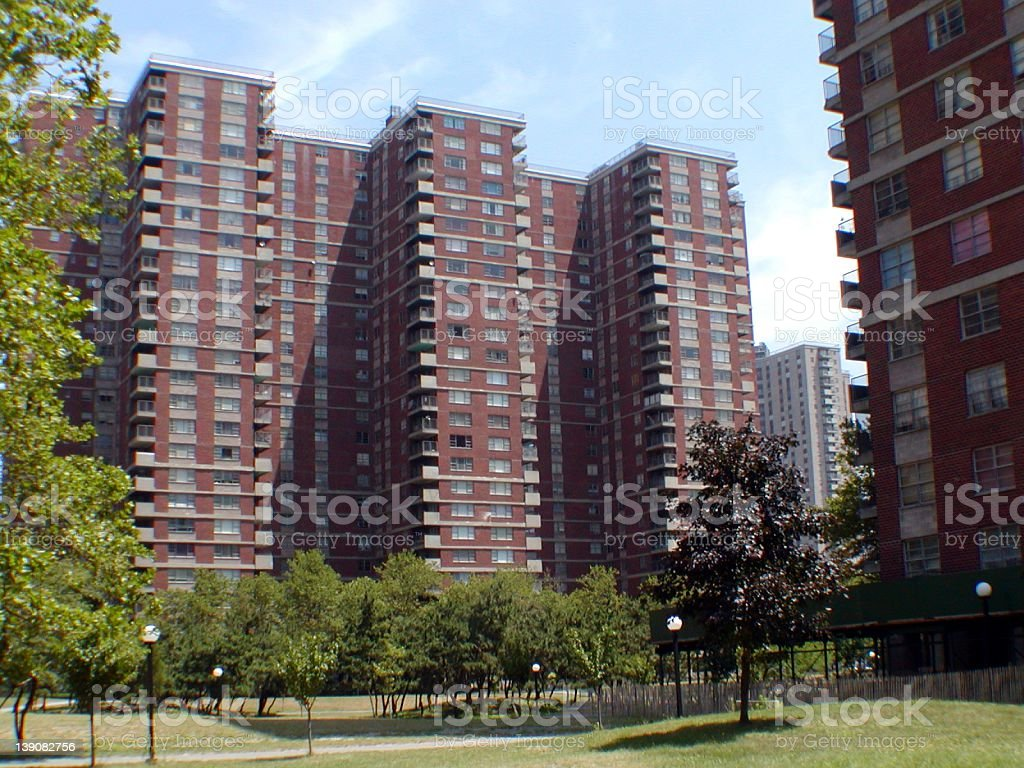 Apartment House, Co-op City, New York City royalty-free stock photo