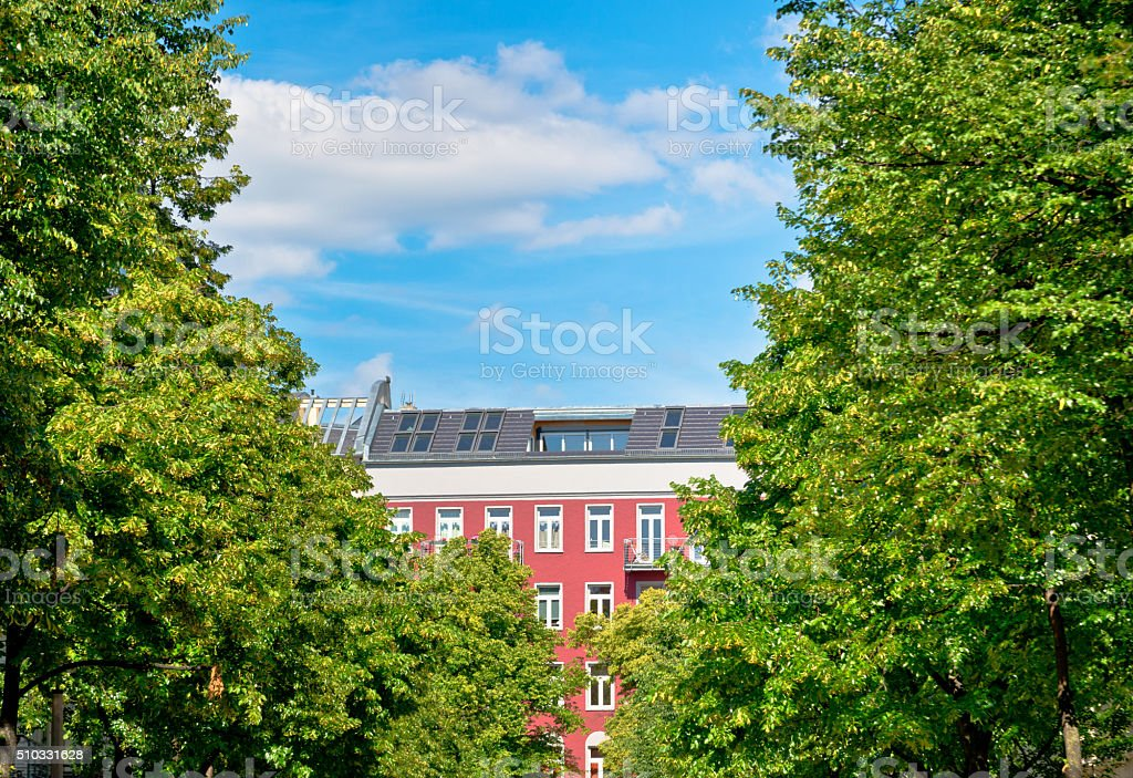 Apartment House in Berlin, Prenzlauer Berg stock photo