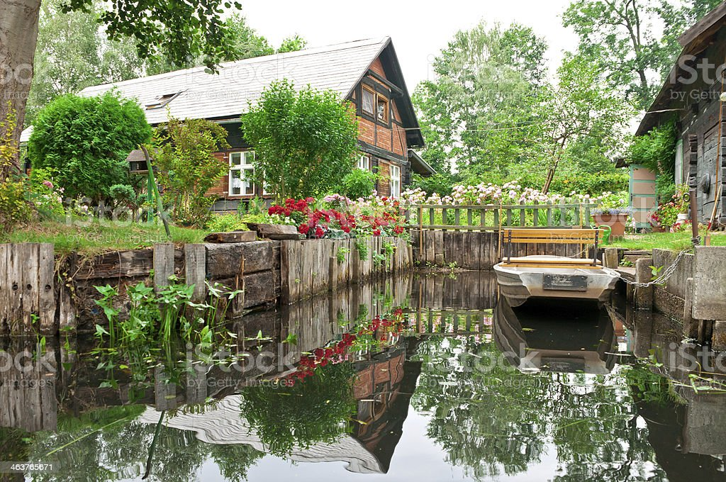 Apartment house in Spreewald /Germany royalty-free stock photo
