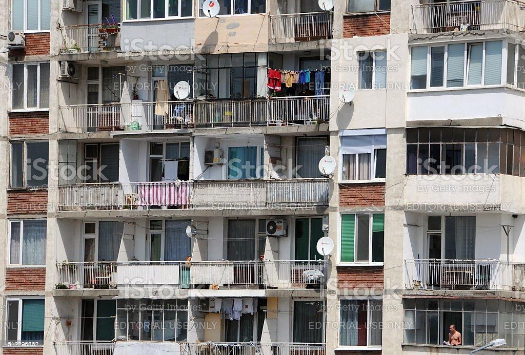 Apartment House in Veliko Tarnovo stock photo