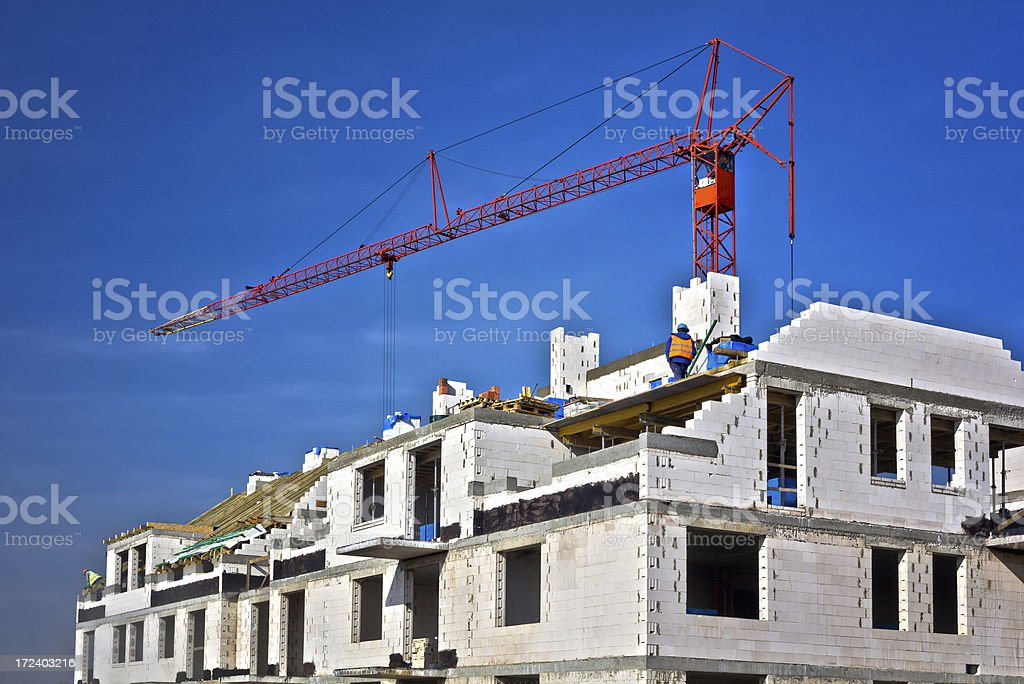 Apartment house under construction royalty-free stock photo