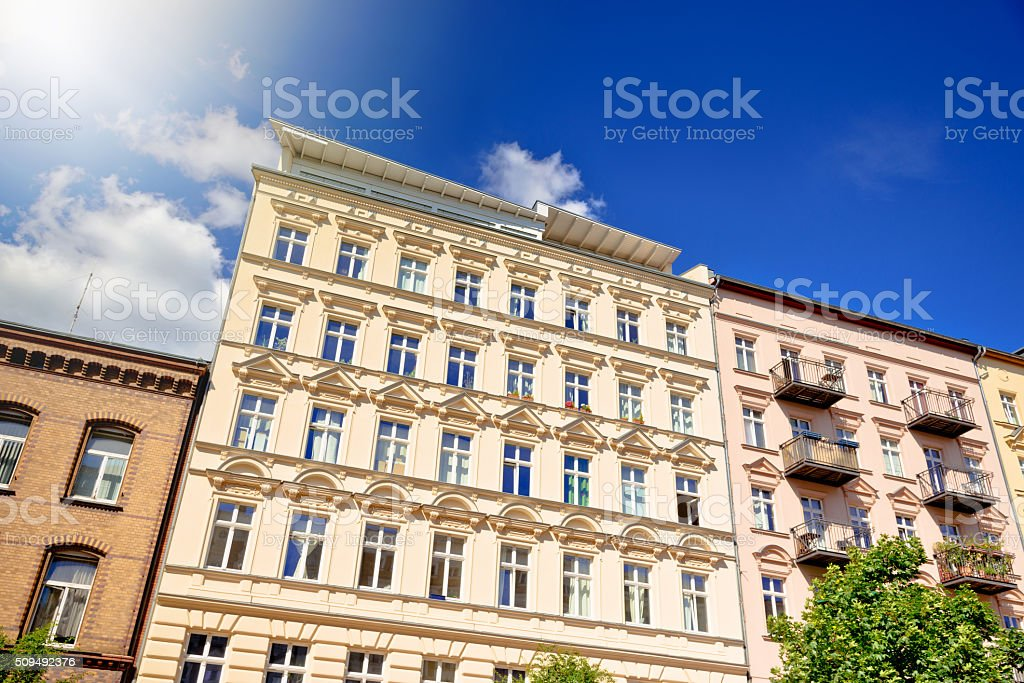 apartment houses in Berlin, Germany stock photo
