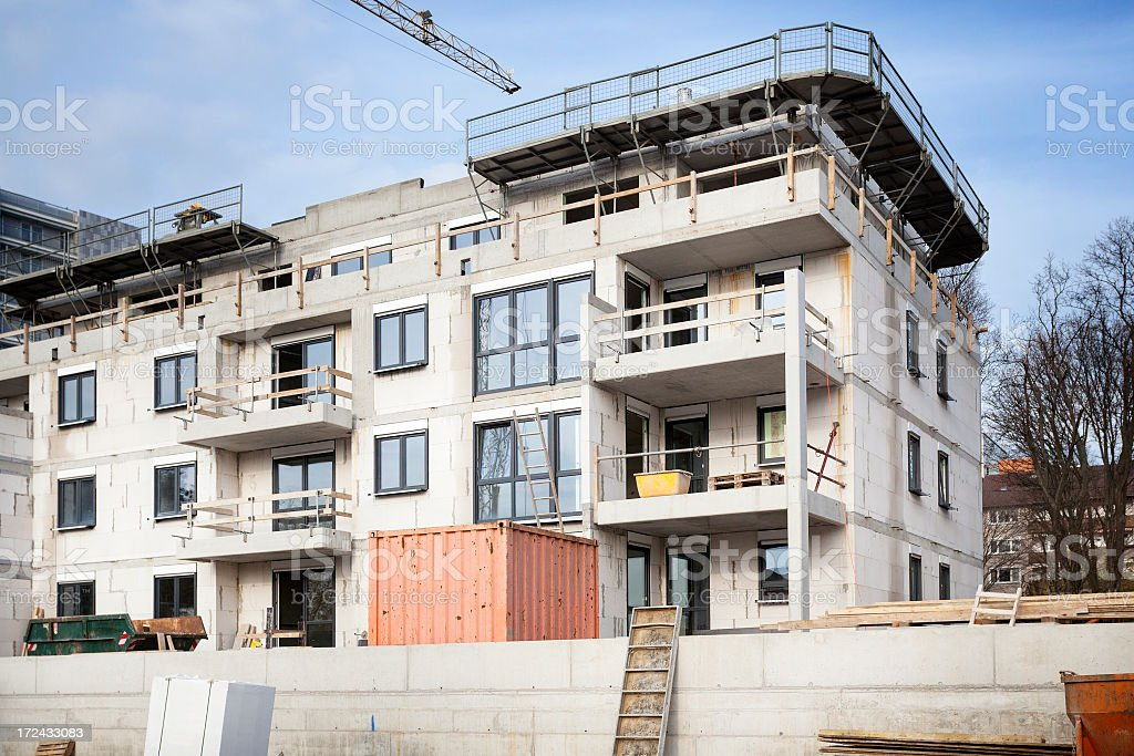 Apartment houses under construction royalty-free stock photo