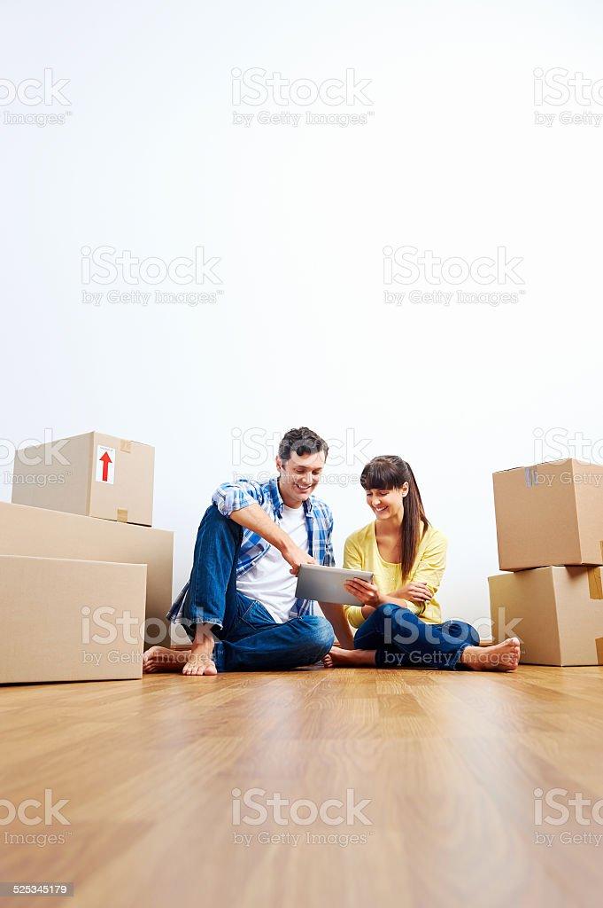 apartment hunting stock photo