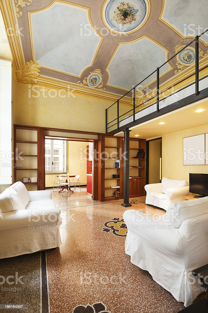 apartment in historic building royalty-free stock photo