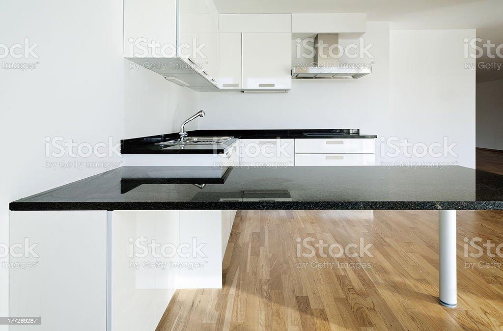 apartment interior, kitchen royalty-free stock photo